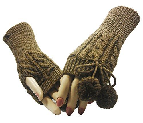 Khaki Legend Poms Arm Warmer Gloves