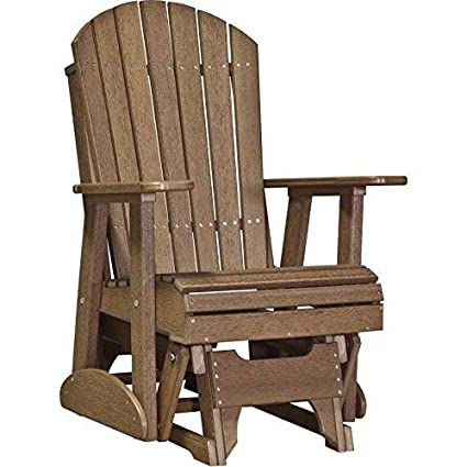 first rate 4e494 a12b7 LuxCraft Recycled Plastic 2' Adirondack Glider Chair