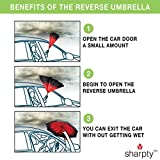Sharpty Inverted, Windproof, Reverse Umbrella for