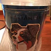 Tree-Free Greetings cc34017 Blue Merle Australian Shepherd by John W Golden Artful Traveler Double-Walled Cool Cup with Reusable Straw 16-Ounce Tree Free