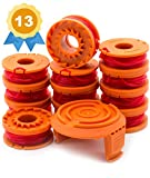 Garden Ninja Replacement Trimmer/Edger Spool for WA0010, 12-Spool with 1 Cap