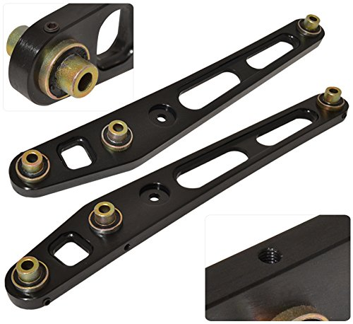 Rear Lower Suspension Arm (Jdm Rear Aluminum Suspension Lower Control Arms LCA Kit Pair Black For Honda)