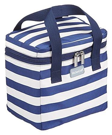 Kitchencraft NauticalWe love Summer Cool bag, blu navy/bianco, 4.9l KCSMCOOL6LUL