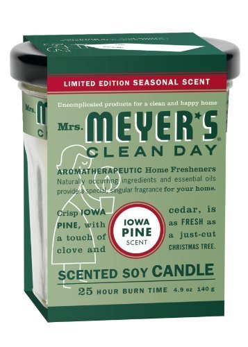 Soy Candle Iowa Pine 4.9 OZ (Pack of 6) by Mrs. Meyers