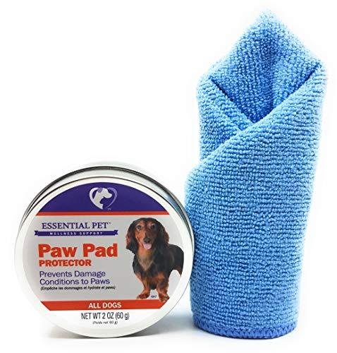 21st Century Essential Pet Paw Pad Protector, 2oz and Tesadorz Microfiber - Slip Century