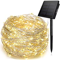 Solar String Lights, Ankway 200 LED Fairy Lights 8 Modes...
