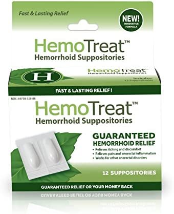 Hemorrhoid Pain Itching Relief Suppository product image