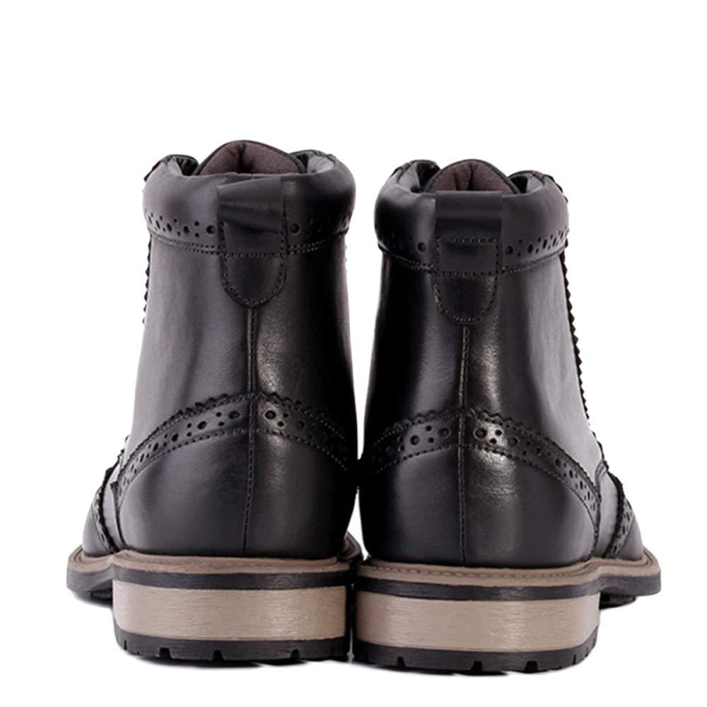 Martin Stiefel Herren Adult Boots Klassische Stiefel Klassische Leder Brogue Schuhe Herrenschuhe Lederschuhe Beiläufige Hohe Schuhe Brogue Black b8d6a3