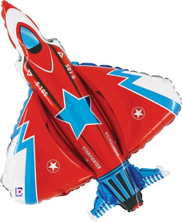 Fighter Jet Foil Shaped (Airplane Balloon)