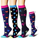 Bluemaple Compression Socks Women & Men - Best for Running,Medical,Athletic Sports,Flight Travel, Pregnancy