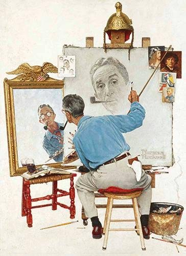 Download Norman Rockwell's Triple Self-Portrait from The Saturday Evening Post Notebook PDF Text fb2 ebook