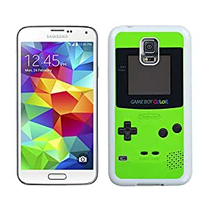 Samsung Galaxy S5 Green Gameboy White Screen Cellphone Case Fashion and Grace Look