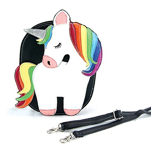 Sleepyville Critters Rainbow Unicorn Crossbody Bag In Vinyl Material