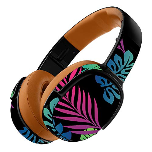 MightySkins Skin Compatible with Skullcandy Crusher 360 Wireless Headphones - Neon Tropics | Protective, Durable, and Unique Vinyl wrap Cover | Easy to Apply, Remove | Made in The USA