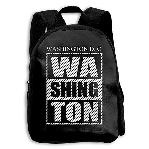 Washington D.C. Black School Backpack Travel Bags Bookbag For (Washington Park Halloween Party)