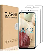 HEYUS [3 Pack] for Samsung Galaxy A12 Screen Protector, 9H Hardness Premium Tempered Shatterproof Glass Screen Protector Case Friendly Film for Samsung Galaxy A12
