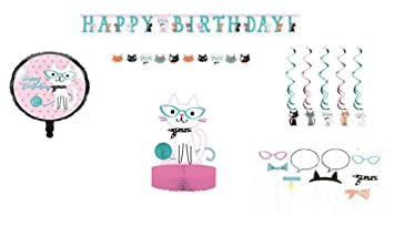 Kitty Cat Birthday Party Decoration Supplies Purr Fect Theme Banner Balloons