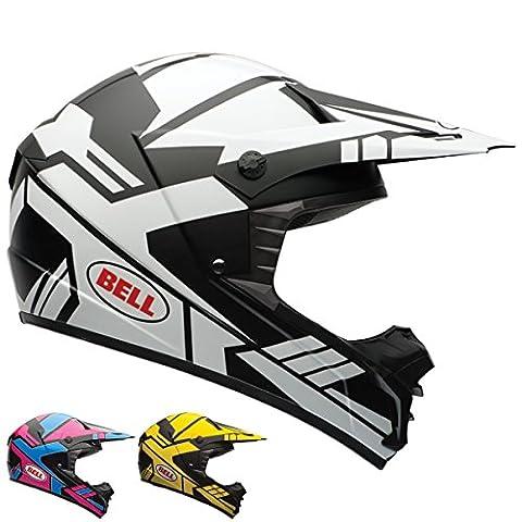 Bell SX-1 Stack Charcoal/Yellow Motocross Helmet - Medium