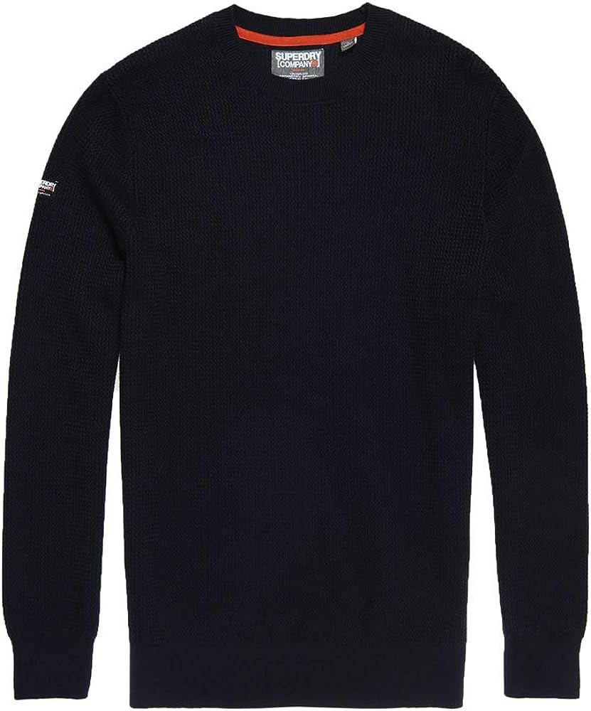 Superdry Herren Akademie Crew Sweatshirt Blau