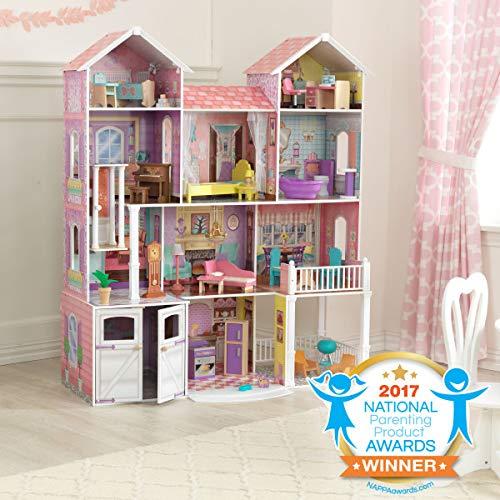 51Tpwe8uVWL - KidKraft So Chic Dollhouse with Furniture