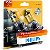Philips 9004 Standard Halogen Replacement Headlight Bulb, 2 Pack