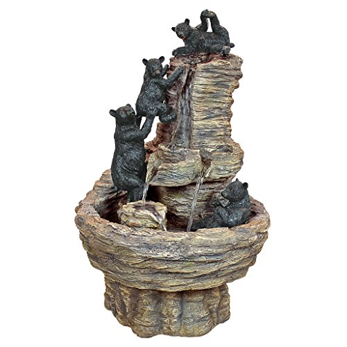 Water Fountain – Rocky Mountain Splash Black Bears Garden Decor Fountain – Outdoor Water Feature Review