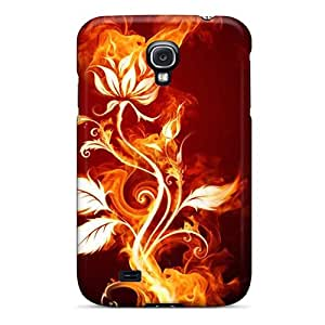 BrandiKCagle Design High Quality Flaming Rose Cover Case With Excellent Style For Galaxy S4