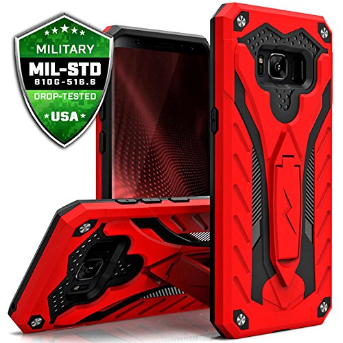 Samsung Galaxy S8 Plus Case, Zizo [Static Series] Shockproof [Military Drop Tested] Kickstand [Galaxy S8 Plus Heavy Duty Case] Impact Resistant – S8+