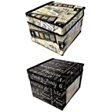 PRINTED PHOTO STORAGE CHEST -POP UP PHOTO, CD, PICTURE BOX 2 DESIGNS