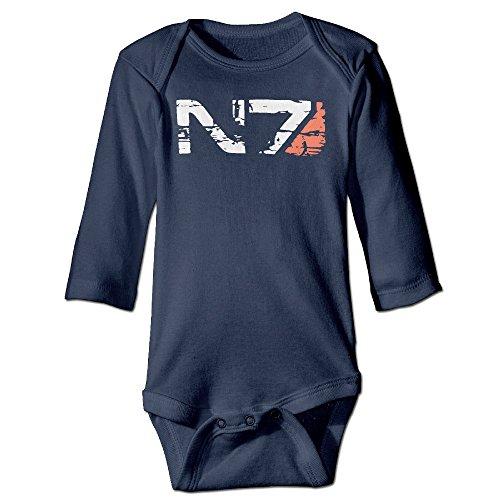 N7 Armor Mass Effect Kids Bodysuits Jumpsuit Onesies Navy