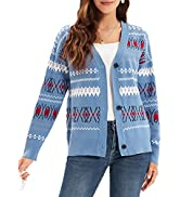 Women's Puff Sleeve Hollow Out Button Down V Neck Knitted Cropped Shrugs Cardigan Tops