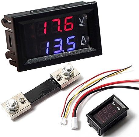 AC 500V 100A numérique voltmètre ampèremètre LED Amp voltmètre shunt CT