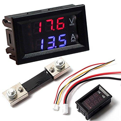 Voltmètre Ampèremètre Numérique Multimetre à LED Courant Shunt DC100V 100A 4,8 mm x 2,9 x 2,6cm