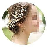 Bride Handmade Headdress Wedding Original Design Hairpin Hollowed Out Leaves Clip Wedding Jewelry Hair Ornaments