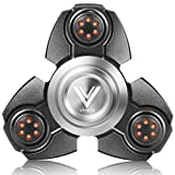 VHEM Fidget Spinner Hand EDC Toy Premium High Speed Finger Spinner Relieves Stress and Anxiety,Aluminium Alloy Black