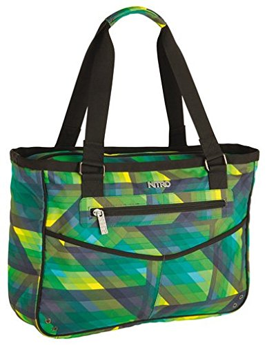 Nitro Handtasche Carry All Bag - Bandolera, color Gris, talla 41 x 33 x 13 cm verde