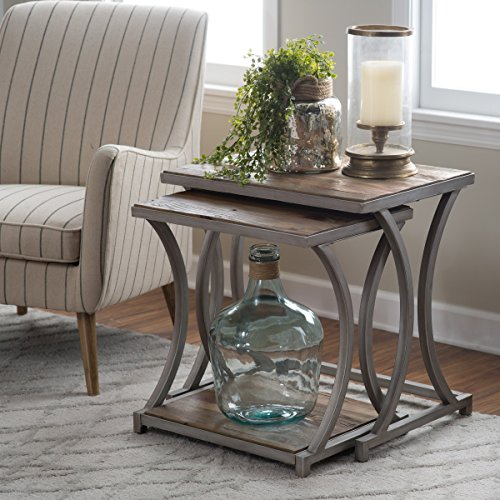 Edison Reclaimed Wood Nesting Tables, End Tables