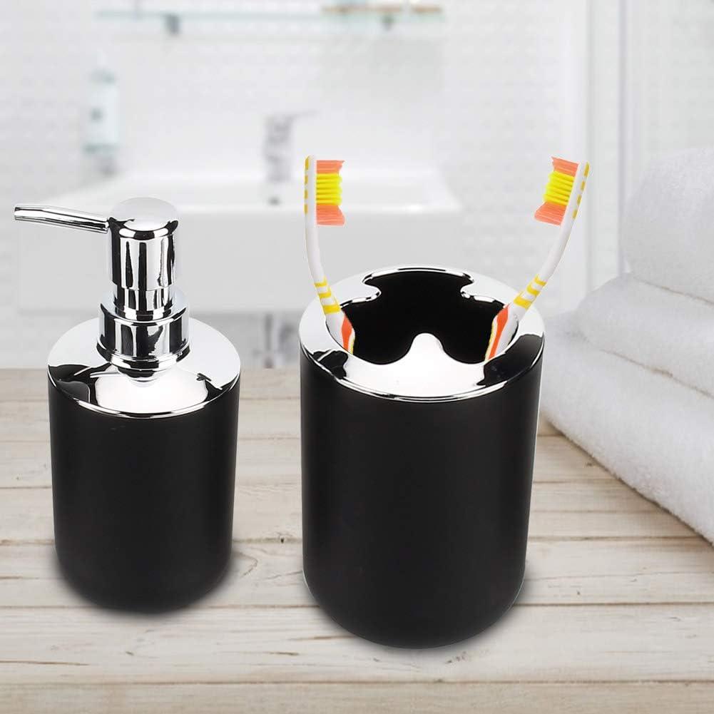 Badausstattung Schwarz Aus Kunststoff 6 Teilig Ungiftig Gototop Badezimmer Accessoires Set Kuche Haushalt Wohnen Luxdental Si