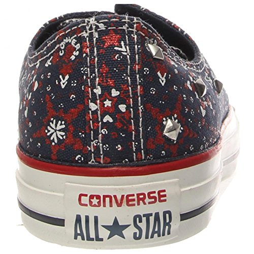 Converse Womens Chuck Taylor Ox Textile Trainers Navy White