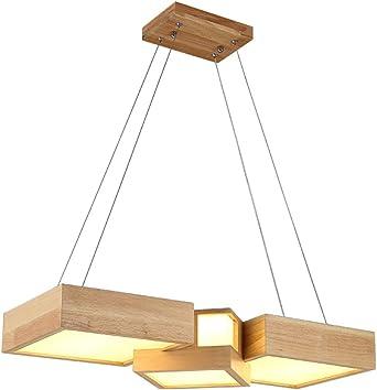 Restaurante LED Lámparas colgantes de madera Lámparas colgantes ...