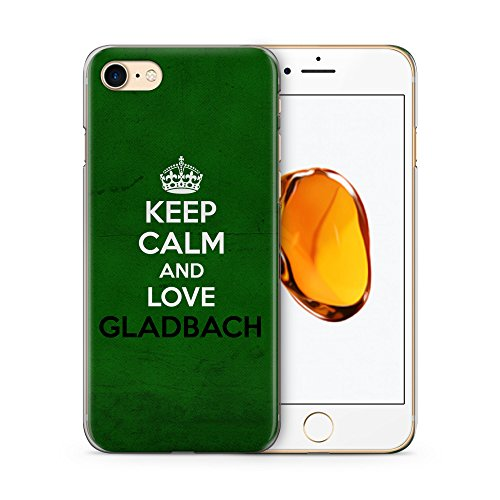 Keep Calm And Love Gladbach Hülle für iPhone 7 SLIM Hardcase Cover Case Handyhülle Deutschland Stadt City Design