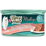 Purina Fancy Feast Medleys Pate Collection Gourmet Wet Cat Food, (24) 3 oz. Cans, Wild Salmon Primavera with Garden Veggies & Greens