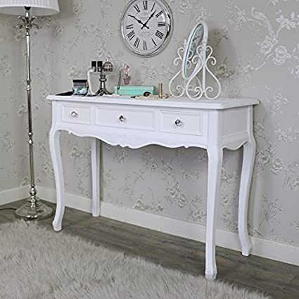 the latest 08047 3ef67 Melody Maison 3 Drawer Console/Dressing Table - Elise White ...