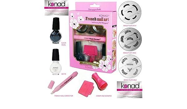 Amazon. Com: konad nail art manicure stamping kit image plate m57.