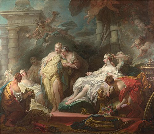 Oil Painting 'Jean Honore Fragonard Psyche Showing Her Sisters Her Gifts From Cupid' 8 x 9 inch / 20 x 23 cm , on High Definition HD canvas prints is - Woolworths For Gifts Her