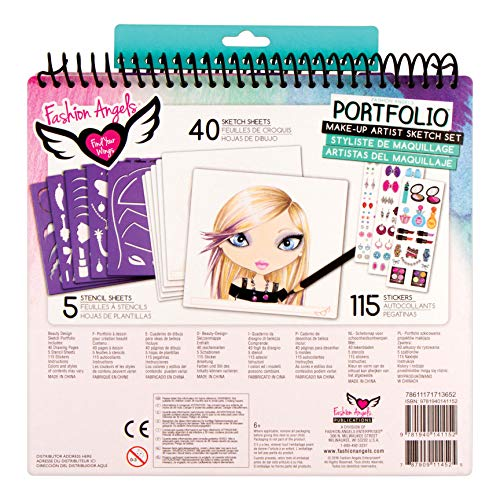 51Tq b2T2JL - Fashion Angels Make-up & Hair Design Sketch Portfolio