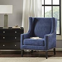 Barton Wing Chair Denim/Black Noir See below
