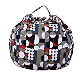 FOONEE Toy Storage Bean Bag, Large Toy Organizer - Canvas Stuffed Animal Organiser Pouch Bag Chair Cozy Lounger (18''/ 26''/32'' for Choice)