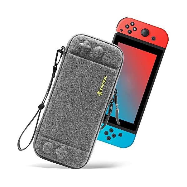 tomtoc Carry Case for Nintendo Switch, Ultra Slim Hard Shell with 10 Game Cartridges, Protective Carrying Case for… 1