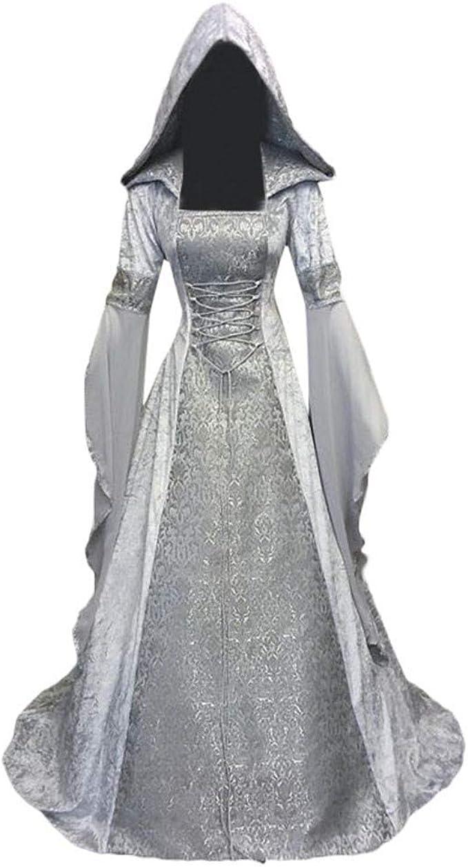 ZARLLE Disfraz De Medieval para Mujer Vestido Gótico Vintage ...